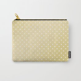 Geometric faux gold white modern gradient polka dots Carry-All Pouch