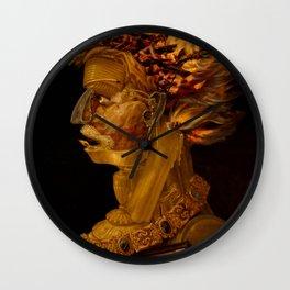 "Giuseppe Arcimboldo ""Four elements - Fire"" Wall Clock"