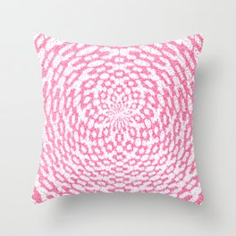 Sacred Geometry Handmade Lace Flower Throw Pillow