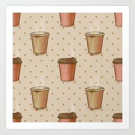 Coffee paper cup Art Print