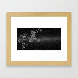 Galactic Coordinates Over Milky Way by Hatart [Includes Constellations] inverted Framed Art Print