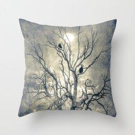 Raven's shelter II  (colour option) Throw Pillow