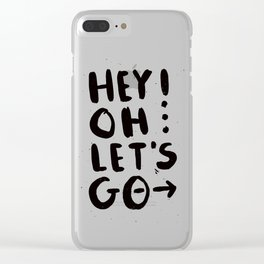Hey! Oh... Clear iPhone Case