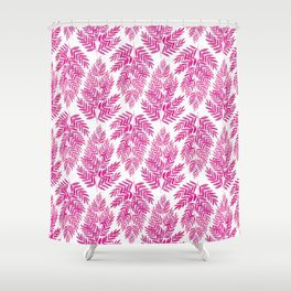 The Fern Magenta Shower Curtain