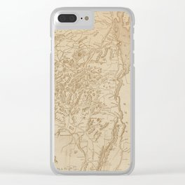 Vintage Map of The Adirondack Mountains (1880) Clear iPhone Case