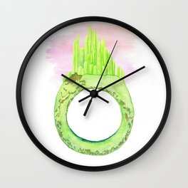 A Handful of the Emerald City Wall Clock