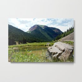 Beaver Lodge at Bear Mountain Metal Print