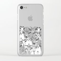 just goats black white Clear iPhone Case