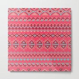 abstract geometric line patterns Metal Print