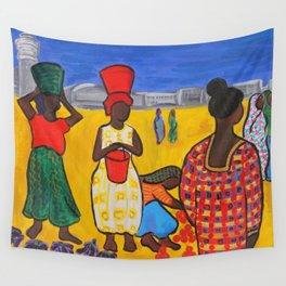 Street Market in Dar Es Salaam Wall Tapestry