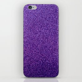 violet glitter photo iPhone Skin