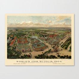 St. Louis Worlds Fair 1904 Canvas Print