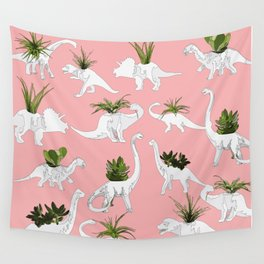 Dinosaurs & Succulents Wall Tapestry