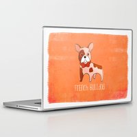 frenchie Laptop & iPad Skins featuring Frenchie by 52 Dogs