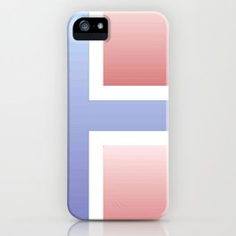 flag of norway  -with color gradient iPhone Case
