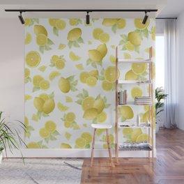 Summer Lemon Twist #1 #tropical #fruit #decor #art #society6 Wall Mural