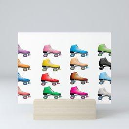 Color Pop of Roller Days Mini Art Print