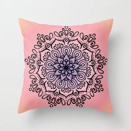 Baesic Sunset Traquil Mandala Throw Pillow