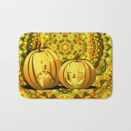 Halloween pumpkins and fall kaleidoscope Bath Mat