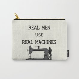 Real Men use Real Machines Carry-All Pouch