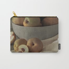 Fresh quinces in ceramic bowl Carry-All Pouch