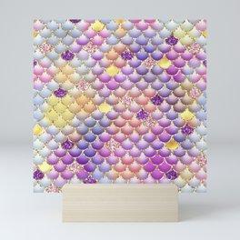 Colorful Mermaid Scales Mini Art Print