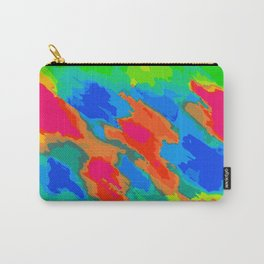 blue red orange and green painting abstract background Carry-All Pouch