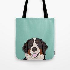 Bernese Mountain Dog pet portrait dog art illustration fur baby dog breed unique gift for dog lover  Tote Bag