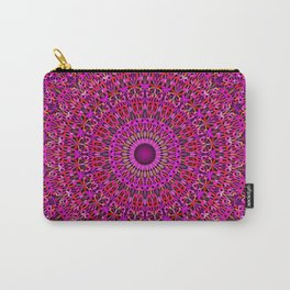 Deep Pink Garden Mandala Carry-All Pouch