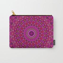 Deep Pink Garden Mandala Carry-All Pouch
