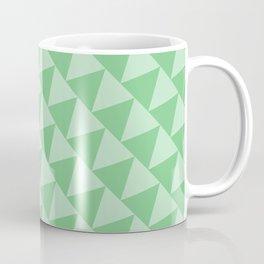 Sage Triangle Pattern Coffee Mug