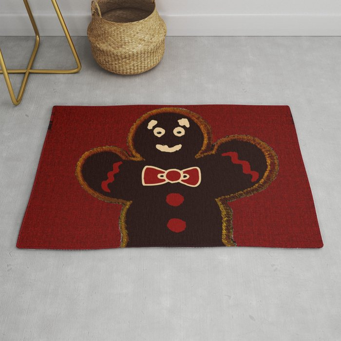 Gingerbread Man Rug By Saundramyles