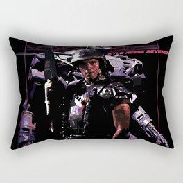 Kyle Reese Revenge Aliens Terminator 80s synthwave Rectangular Pillow