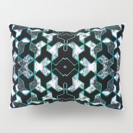 Crayon geometric and marble collage Pillow Sham