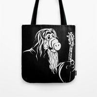 gandalf Tote Bags featuring GandALF by sergio37