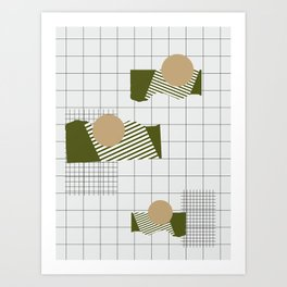 Checks Lines Grid Art Print