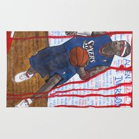 nba Area & Throw Rugs featuring NBA PLAYERS - Allen Iverson by Ibbanez