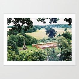warwick castle trebuchet Art Print