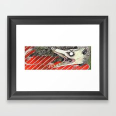 Possum on a Grill Framed Art Print
