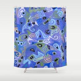 Sapphire Shower Curtain
