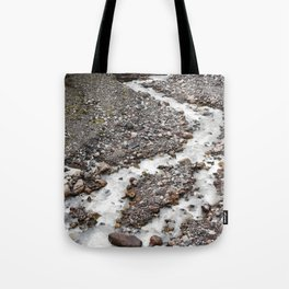 The birth of Nisqually river Tote Bag