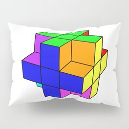Abstract coloured cube Pillow Sham