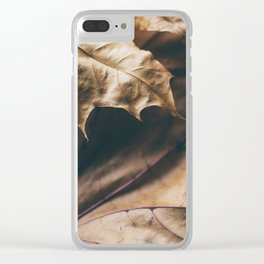 Autumn texture Clear iPhone Case