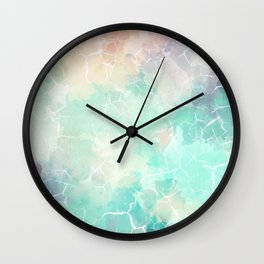 Colorful Marble Pattern Wall Clock