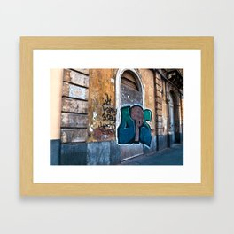 SICILIAN FACADE in CATANIA Framed Art Print