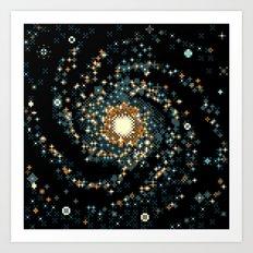 Pinwheel Galaxy M101 (8bit) Art Print