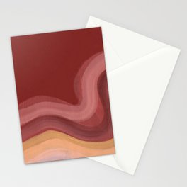 Terracotta wave Stationery Cards