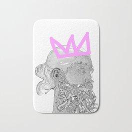 King_white/pink crown Bath Mat
