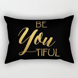 BeYoutiful Gold Foil Rectangular Pillow