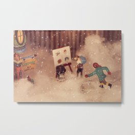 Snowstorm in Christmasland Metal Print